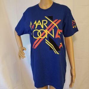 Maroon 5 VIP concert shirt 2013 blue tee shirt